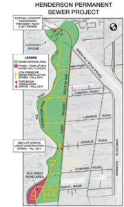 Map of Henderson Sewer Project