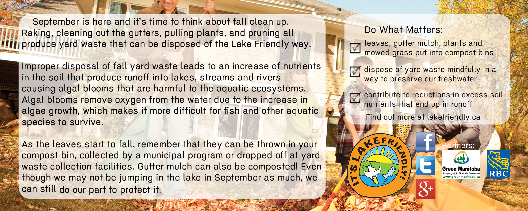 Lake Friendly Tips September