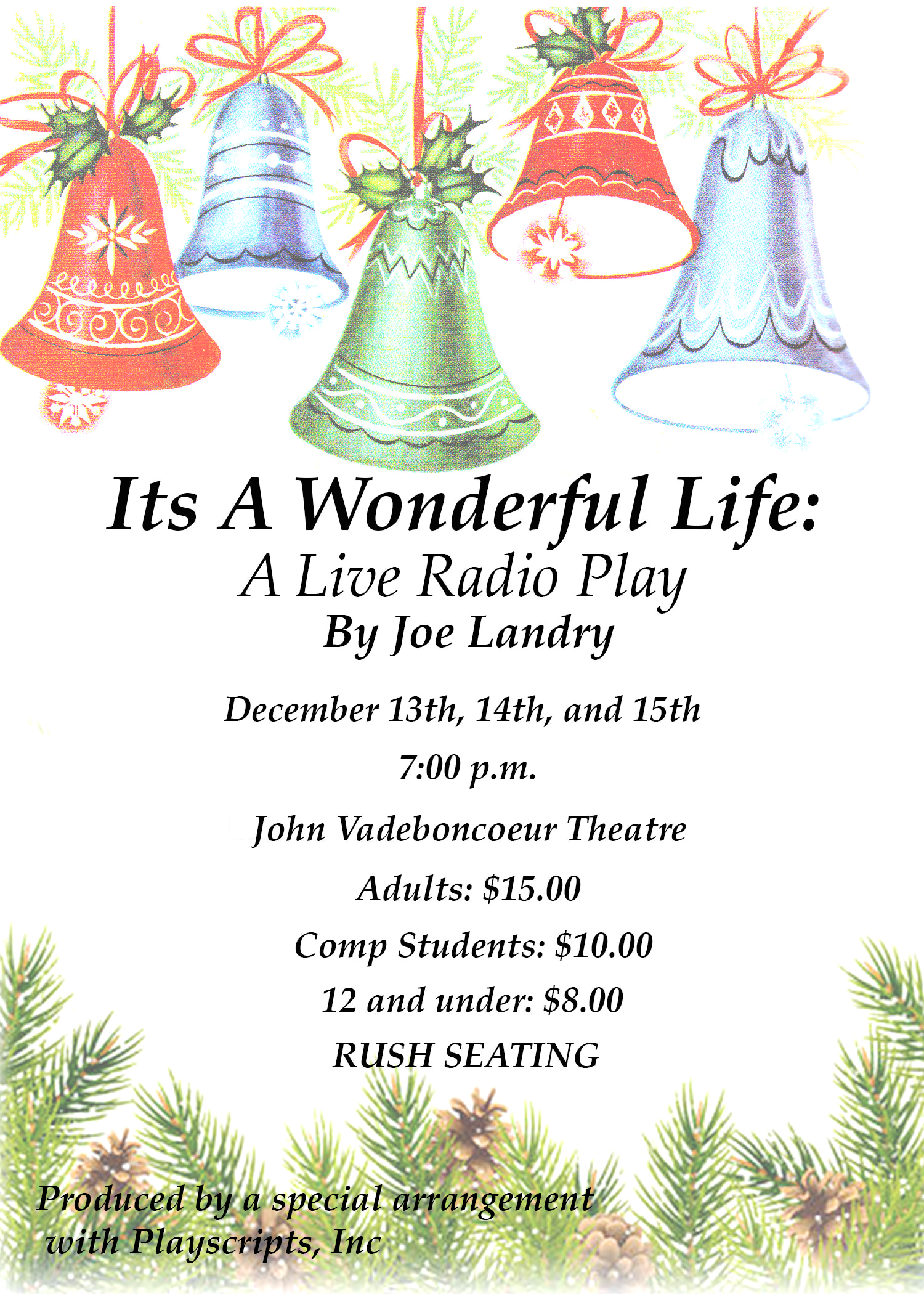 Its A Wonderful Life A Live Radio Play Rural Municipality Of St Clements