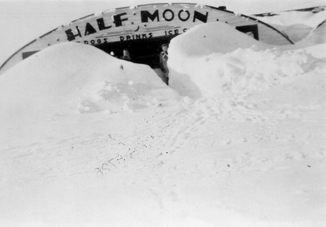 Halfmoon Drive In snow