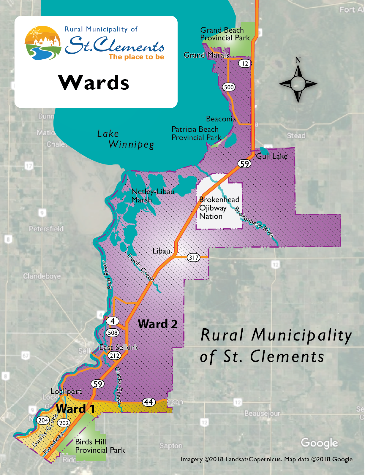 Ward Map RM of St Clements2x - Rural Municipality of St
