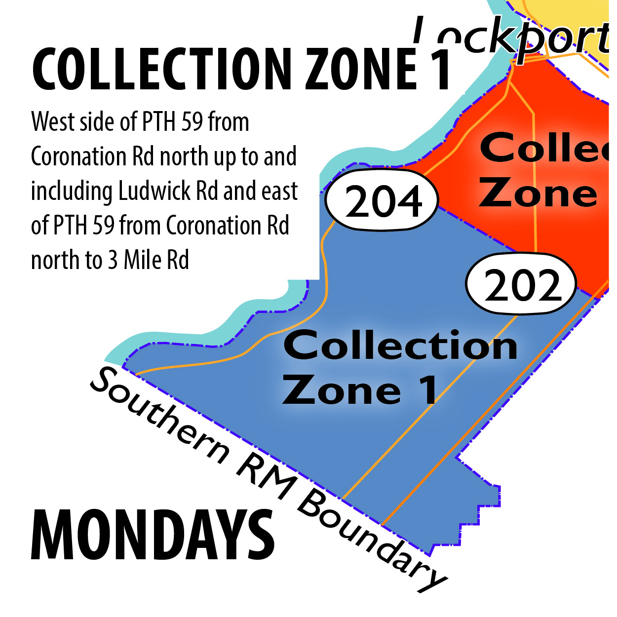 Curbside Zone 1 - Mondays