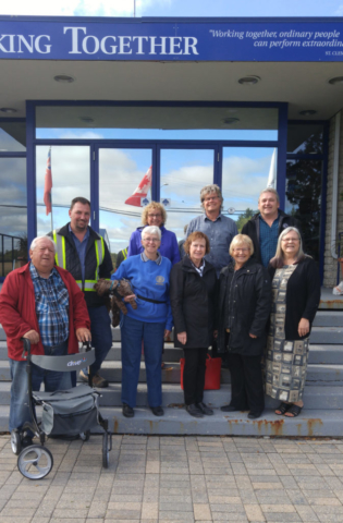 Back row (l-r) RM of St. Clements Assistant CAO Colleen Sailor, RM of St. Clements CAO DJ Sigmundson, Public Works Manager Greg Elson Front row (l-r) Councilor Gerry Drobot, Rotarian Elaine Elliott, Rotarian Sharon Moolchan, Rotarian Jean Oliver, RM of St. Clements Mayor Debbie Fiebelkorn