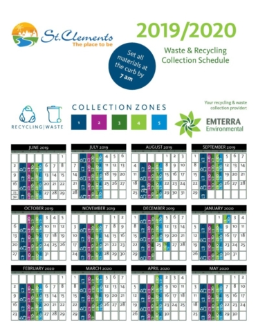 RM of St. Clements Curbside Pickup Schedule