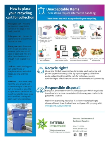 RM of St. Clements Curbside Pickup Information