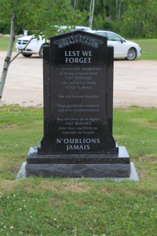 East Beaches war memorial