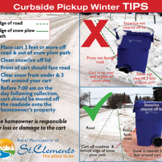 Curbside pickup winter cart placement tips