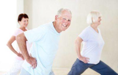 seniors' yoga class