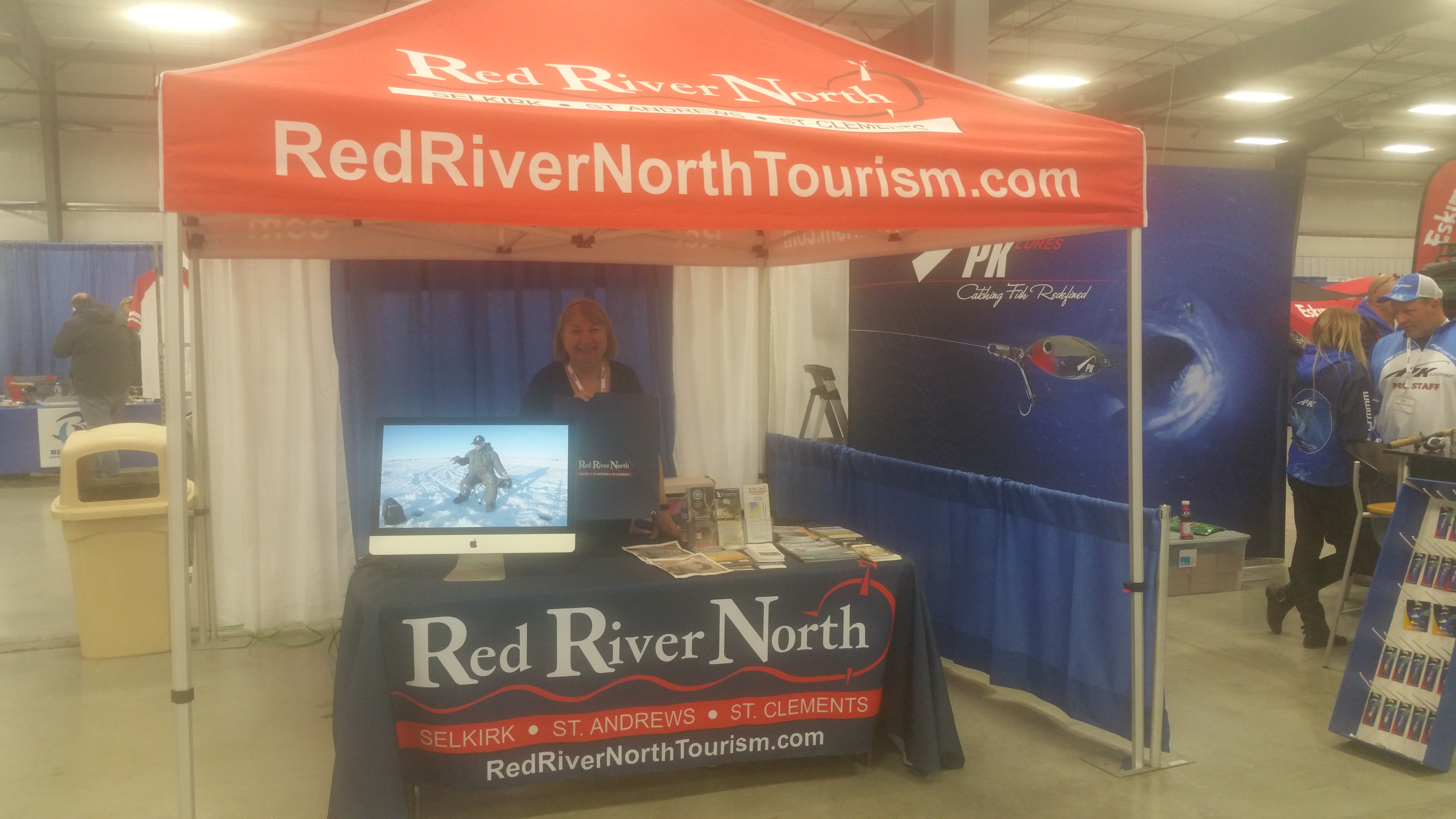 Red River North Tourism display at ice fishing show