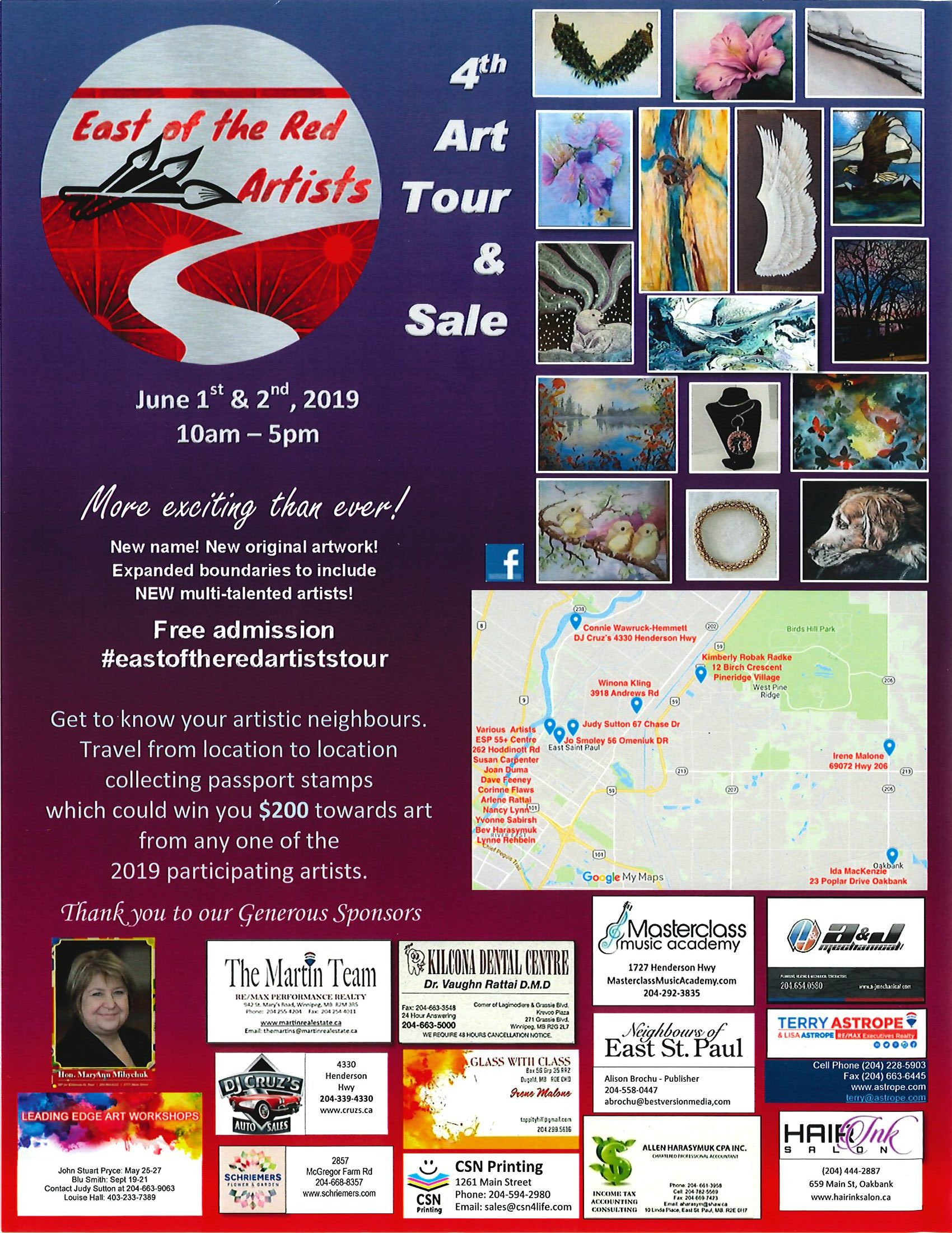 East Side of the Red Artists Art Tour and Sale