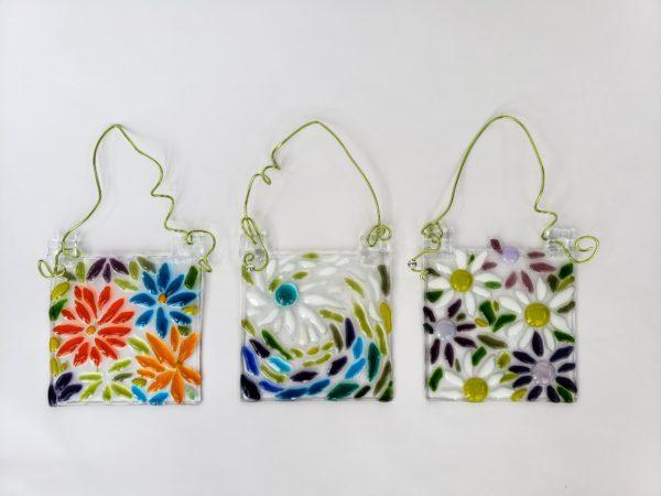 Fused glass sun catchers