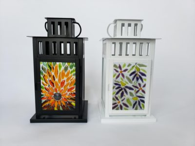 Fused glass lanterns